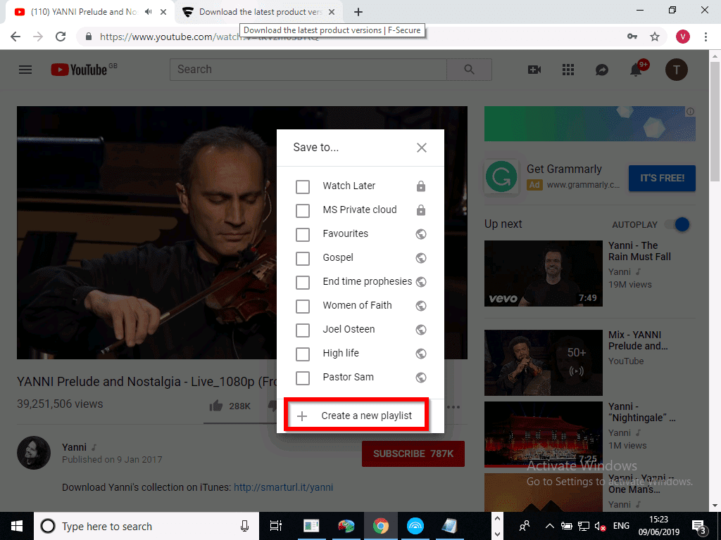 How To Create a Playlist on YouTube 2020 - click on create new playlist
