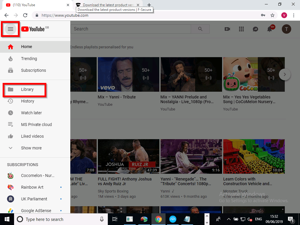 How To Create a Playlist on YouTube 2020 - click on library